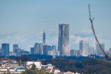 View of Yokohama's Minato-Mirai from top of Mt. Inari