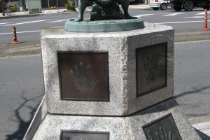 The monument to sumo wrestlers