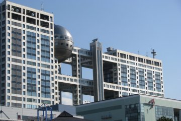 Fuji TV building designed by Kenzo Tange