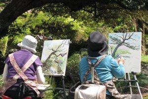 В парках часто можно встретить художников, пусть даже любителей