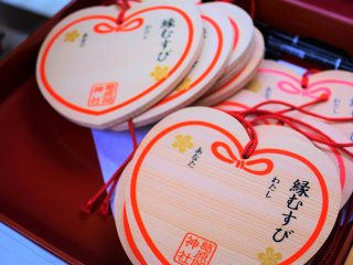 Heart-shaped ema votive plaques