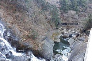 A view of the suspension bridge