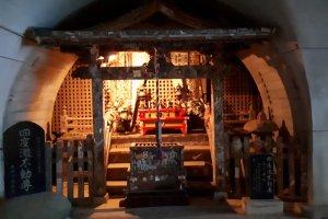 Shrine inside Kanbaku Tunnel