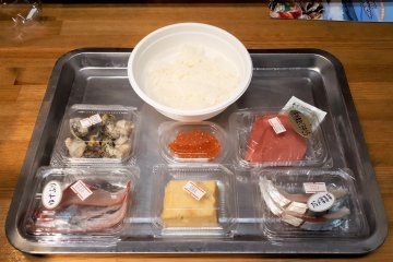 Self-service kaiseidon seafood tray