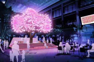Tree of Light (image). Approximately 100,000 LED lights will glitter in this installation from March 16 to 31.