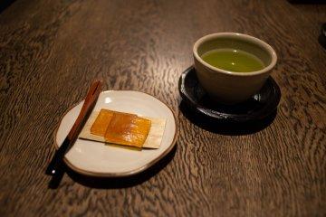 Welcome refreshment at Satoumitei