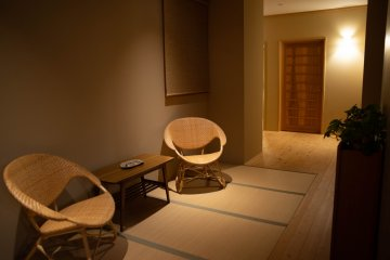 Hallway lounge at Satoumitei
