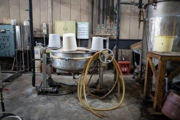 Factory tour at Kurosawa Shouyuten