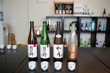 Sake tasting at Tsukinoi Shuzoten