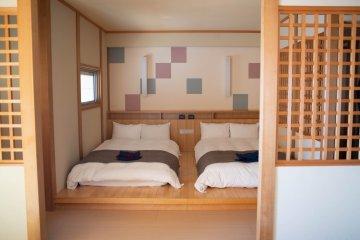 Japanese room at the Oarai Hotel