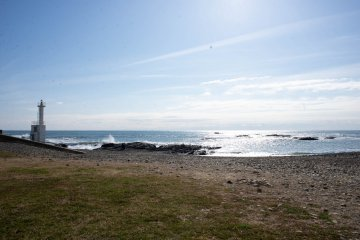 Sea view from the grounds of the Oarai Hotel