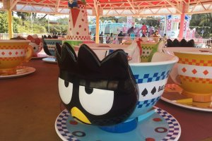 The coffee cup ride at the Hello Kitty land.
