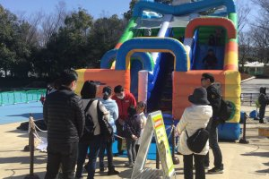 Bouncy castles are a hit with smaller kids.