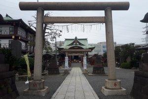 Torii gate entrance to the shrine