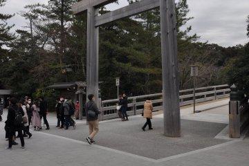 Ise Shrine: main gate