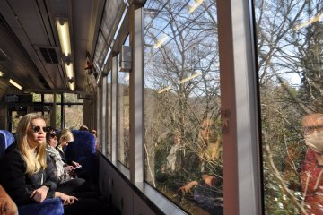 Kirara train: panoramic windows