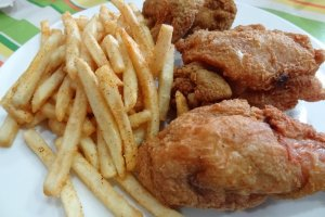Southern Fried Chicken served with a side of fries