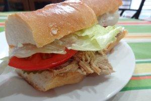 Turkey po-boy sandwich