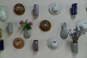 Pottery vases.