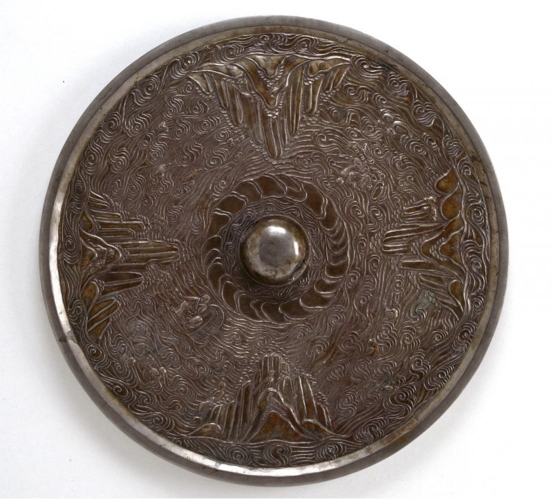 8th-century mirror, Tokyo National Museum