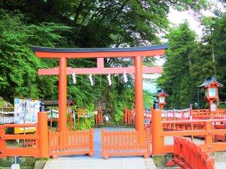 The entrance to the bridge