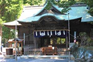 Yabo Tenmangu Shrine, home to a calligraphic plaque