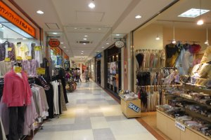 Lots of shopping can be done in Molti Shopping Street