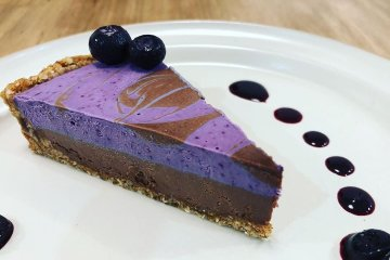 One of their winter desserts was this completely vegan blueberry chocolate tart