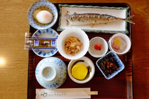 A lovely Japanese breakfast was waiting for us as we returned from the morning walking tour