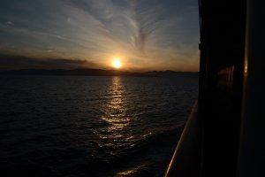 Sunset over Sado Island