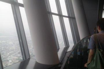 제일 높은 위치에서 도쿄시내를 볼 수 있다
