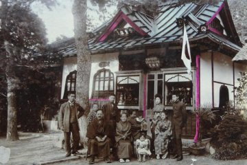 <p>The shop has a long history. The owner showed me some old photos. One was taken before the Great Kanto Earthquake, maybe early 1900. It showed a family in front of an old shop. At that time the shop was a curio shop inside the Daibutsu premises.</p>