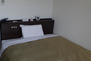 Single room of Kyoto Plaza Hotel just moments from JR Kyoto Station