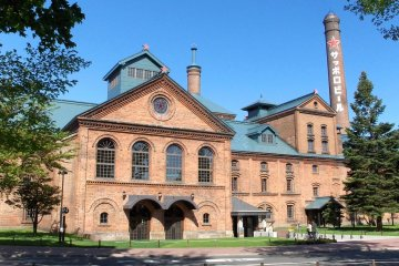 This beautiful red-brick building houses the Sapporo Beer Museum