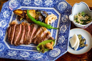 Quality Goto beef at Umi to Sora Maru to Hoshi in the Margherita Narao hotel