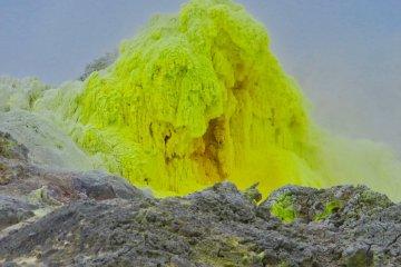 Sulfur at Mt. Lozan
