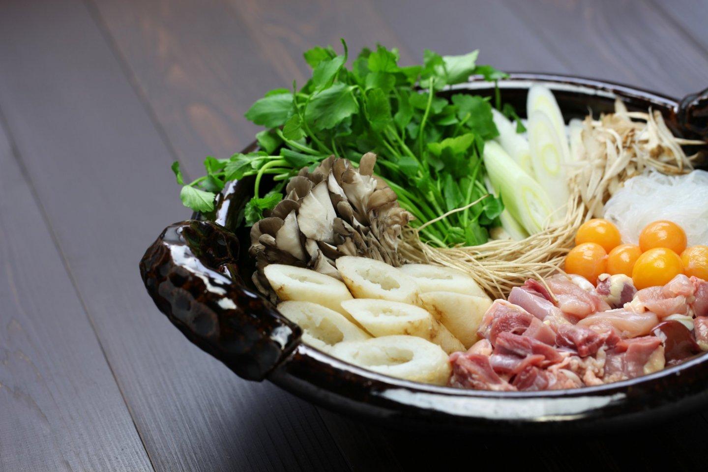 Japanese chicken hot pot cuisine
