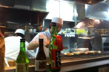 Great view of chef at work from the counter