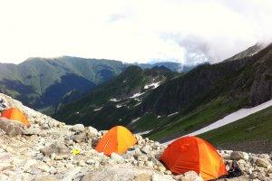 Campsite near the summit