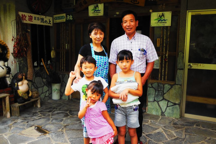Great thanks to the family of Minshuku Fuchinoue!
