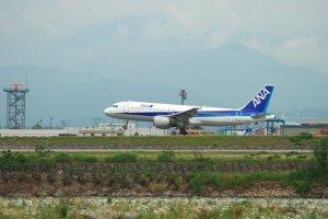 An ANA plane at Toyama Airport