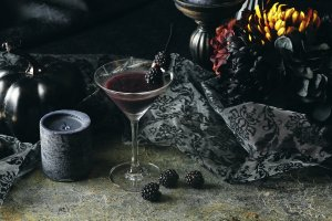 The Black Halloween Night cocktail