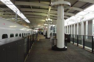 Shinkansen at the platform