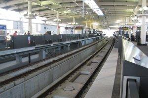 The Shinkansen platform
