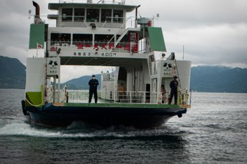 Ferry to the island takes only 10 minutes