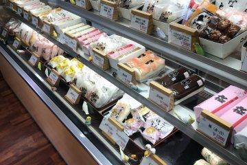 Cabinets full of kamaboko