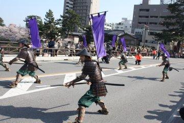 Ieyasu Gyoretsu parade, held in April every year