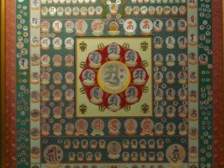 新別殿の床に掛る曼荼羅