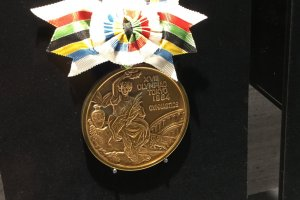 What does an Olympic medal look like up close?