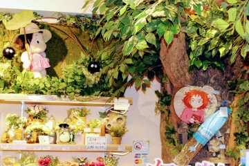 A range of goods from the Ghibli movies at Donguri Republic